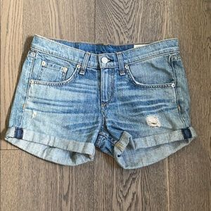 RAG AND BONE Boyfriend denim shorts
